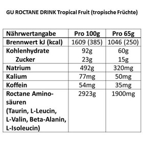 GU Energy Roctane Ultra Endurance Energy Drink - Nutrition sport - Tropical Fruit 65g